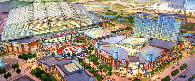 Texas Live and the Rangers New Ballpark